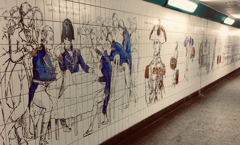 londra mattonelle metro