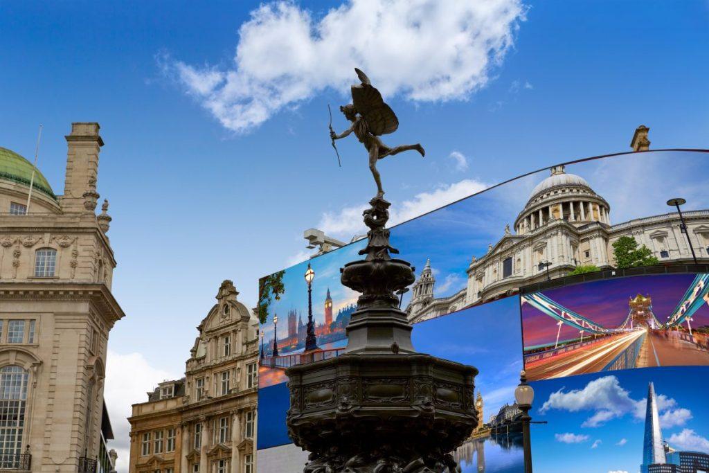 londra piazza statua eros